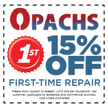 15 percent off first-time repair