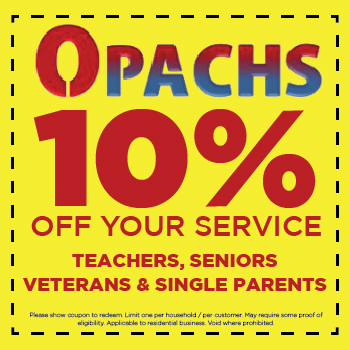 10 percent off for teachers, seniors, veterans and single parents